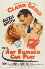 Any Number Can Play 1949 DVD - Clark Gable / Alexis Smith